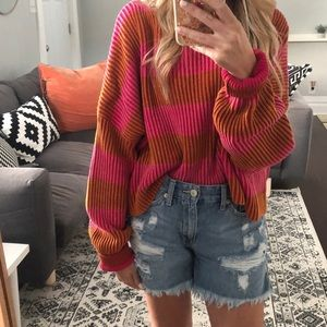 Free People Just my stripe sweater